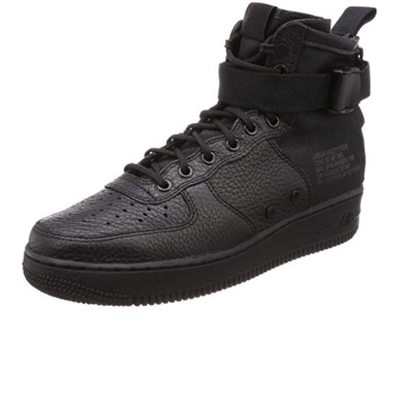 Nike Shoes - Nike SF AF1 MID All Black Size 7Y